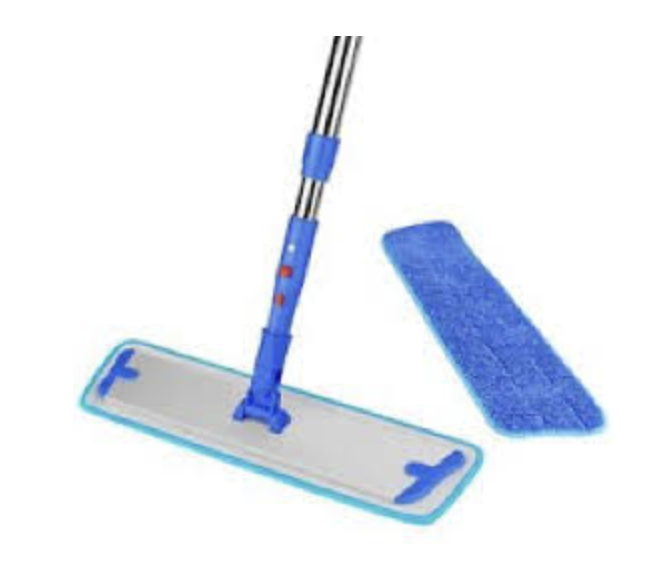 FLAT MOPS ARE QUICK TO USE AND EASY TO SWAP OUT FOR A CLEAN ONE